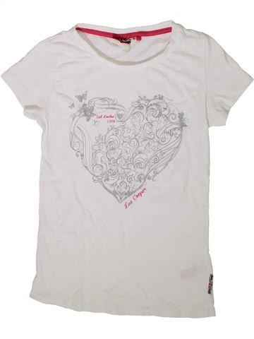 T-shirt manches courtes fille LEE COOPER blanc 10 ans été #1339015_1