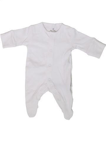Pyjama 1 pièce unisexe NEXT blanc prématuré été #1339126_1