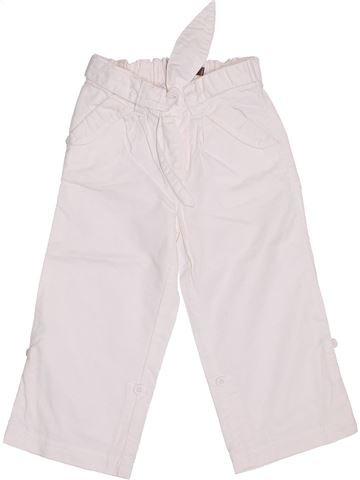 Pantalon fille BOUT'CHOU blanc 2 ans été #1339880_1