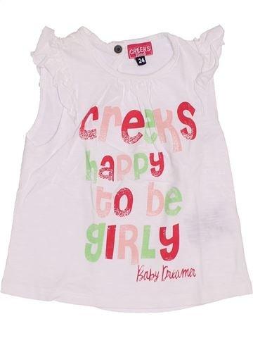 Camiseta de manga corta niña CREEKS blanco 2 años verano #1340125_1