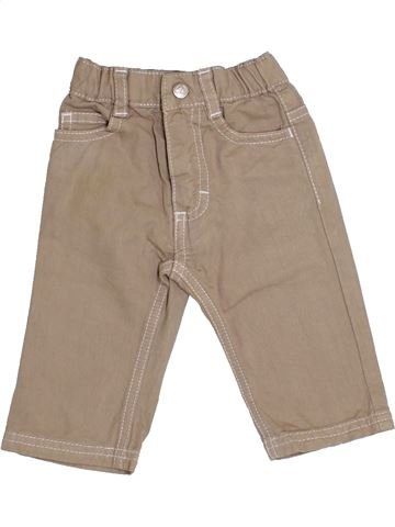 Pantalon garçon PETIT BATEAU beige 3 mois hiver #1341499_1