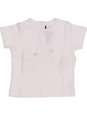 T-shirt manches courtes fille LILI GAUFRETTE blanc 18 mois été #1341964_1