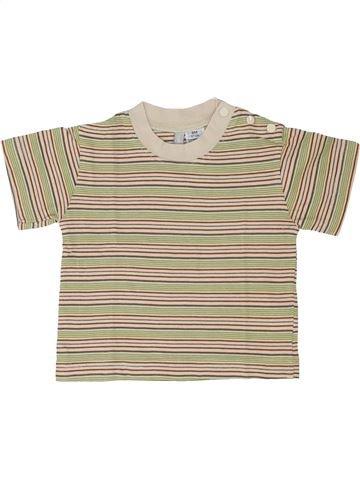 T-shirt manches courtes garçon TOUT COMPTE FAIT beige 6 mois été #1342998_1