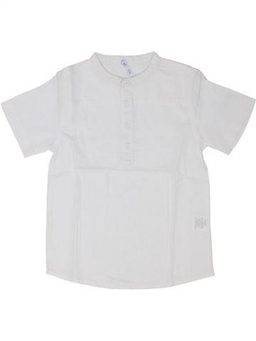 Camisa de manga corta niño GEMO blanco 6 años verano #1343160_1