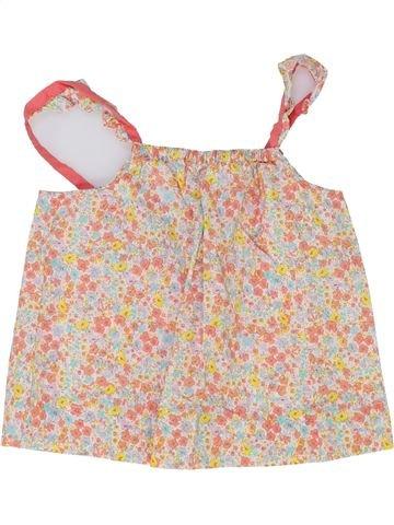 Blusa de manga corta niña CYRILLUS blanco 4 años verano #1343192_1