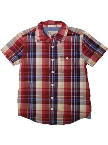 Chemise manches courtes garçon FAT FACE violet 11 ans été #1343356_1