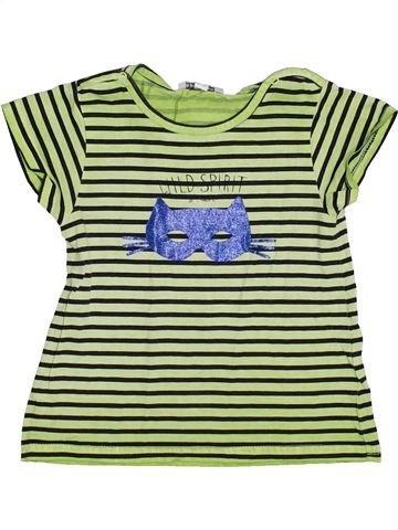 T-shirt manches courtes fille 3 POMMES vert 3 ans été #1343794_1