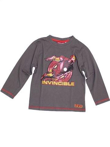 T-shirt manches longues garçon SUPERS HÉROS gris 6 ans hiver #1343898_1