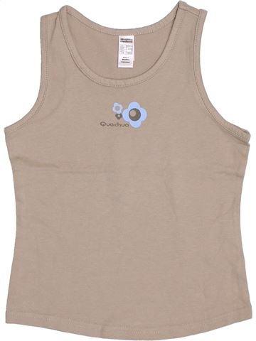 Camiseta sin mangas niña QUECHUA beige 8 años verano #1344072_1