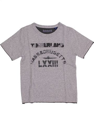 T-shirt manches courtes garçon TIMBERLAND violet 6 ans été #1344414_1