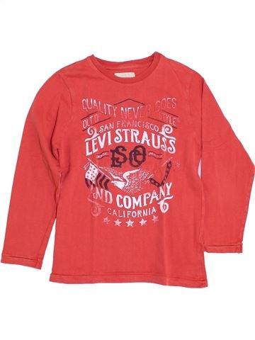 T-shirt manches longues garçon LEVI'S rouge 10 ans hiver #1344475_1