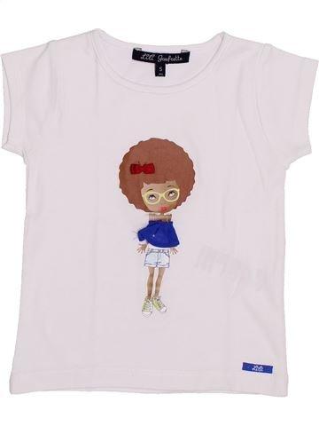 Camiseta de manga corta niña LILI GAUFRETTE blanco 5 años verano #1345423_1