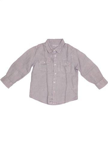 Chemise manches longues garçon MONOPRIX gris 3 ans été #1345588_1