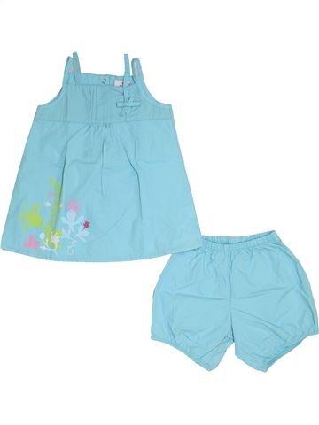 Conjunto niña AUBISOU azul 12 meses verano #1345707_1
