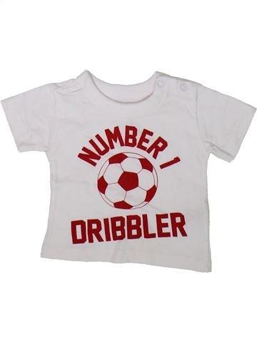 T-shirt manches courtes garçon PEP&CO blanc naissance été #1346436_1