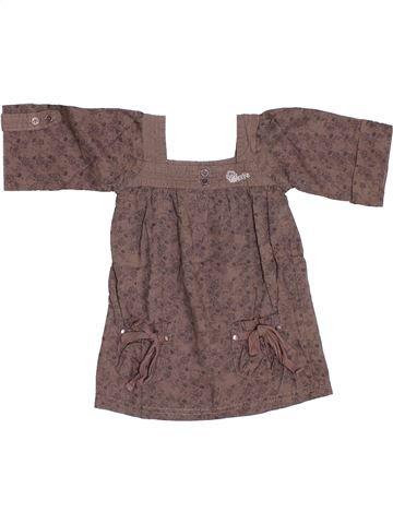 Robe fille CREEKS marron 12 mois été #1346548_1