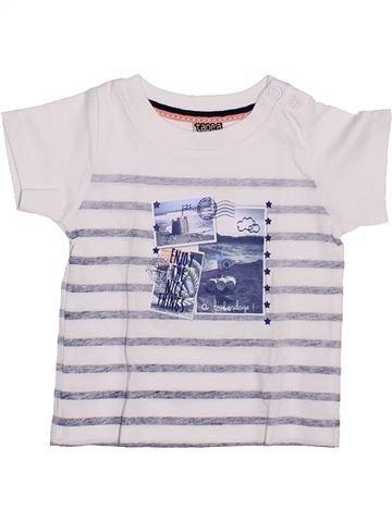 T-shirt manches courtes garçon TAPE À L'OEIL blanc 3 mois été #1346916_1
