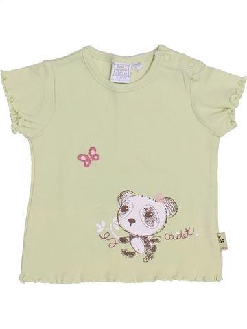 Camiseta de manga corta niña CADET ROUSSELLE beige 6 meses verano #1347046_1