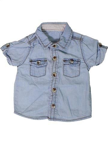 Camisa de manga corta niño GEORGE azul 3 meses verano #1347857_1