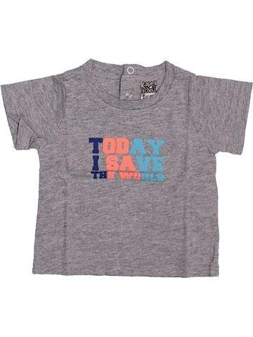 T-shirt manches courtes garçon TAPE À L'OEIL gris 6 mois été #1348739_1