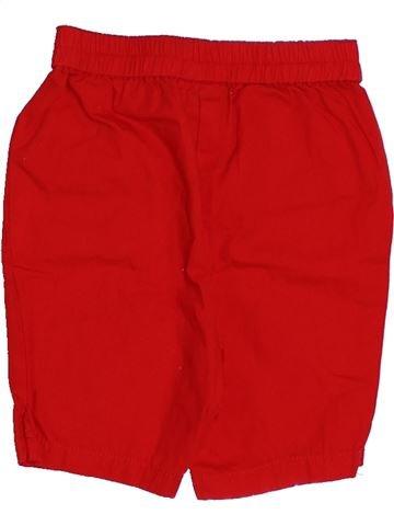 Short - Bermuda fille CYRILLUS rouge 6 mois été #1349207_1