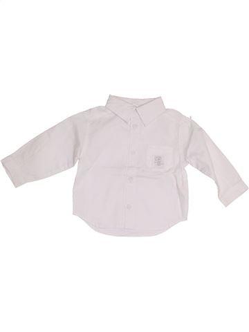 Chemise manches longues garçon P'TIT BISOU blanc 6 mois hiver #1349315_1