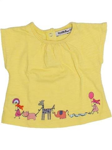 T-shirt manches courtes fille TAPE À L'OEIL jaune 3 mois été #1349692_1