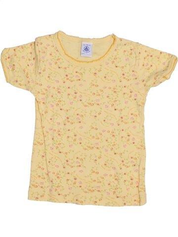 T-shirt manches courtes fille PETIT BATEAU beige 2 ans été #1350063_1