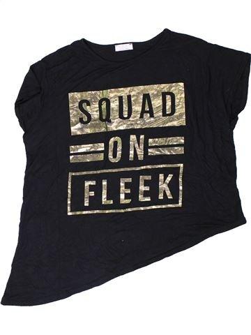 T-shirt manches courtes fille KYLIE noir 13 ans été #1350699_1