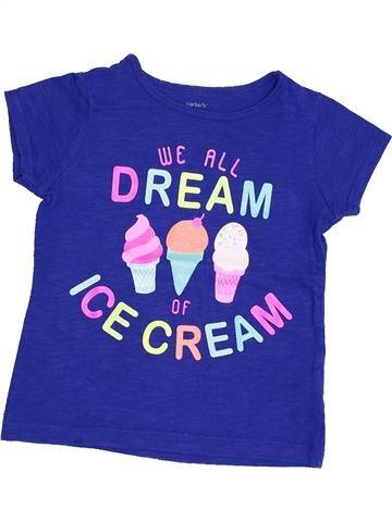 T-shirt manches courtes fille CARTER'S violet 4 ans été #1351963_1