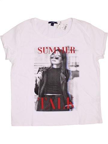 T-shirt manches courtes fille KIABI blanc 14 ans été #1352150_1