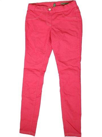 Pantalón niña BENETTON rosa 12 años verano #1352173_1