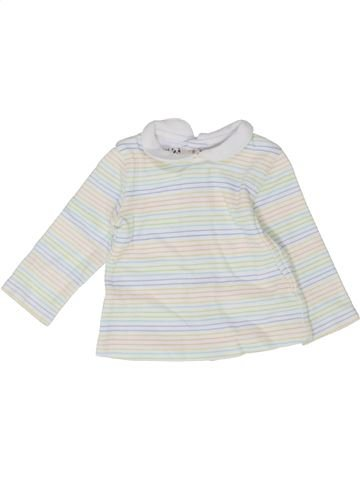 T-shirt manches longues garçon PRENATAL blanc naissance hiver #1352332_1