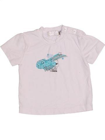 T-shirt manches courtes fille CLAYEUX blanc 6 mois été #1352593_1