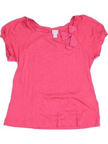 T-shirt manches courtes fille CYRILLUS rose 14 ans été #1352621_1