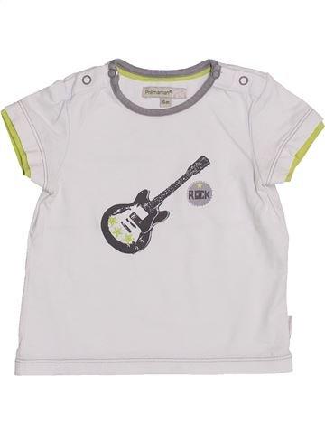 T-shirt manches courtes garçon PREMAMAN blanc 6 mois été #1353170_1