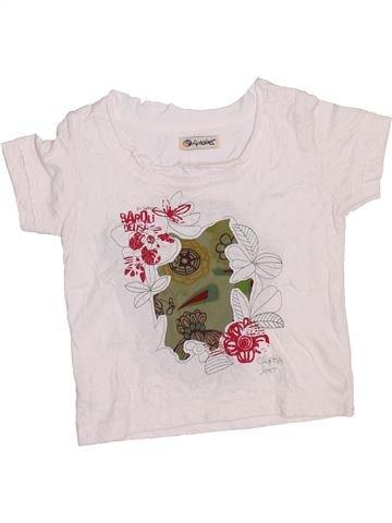 T-shirt manches courtes fille ALPHABET blanc 2 ans été #1353500_1