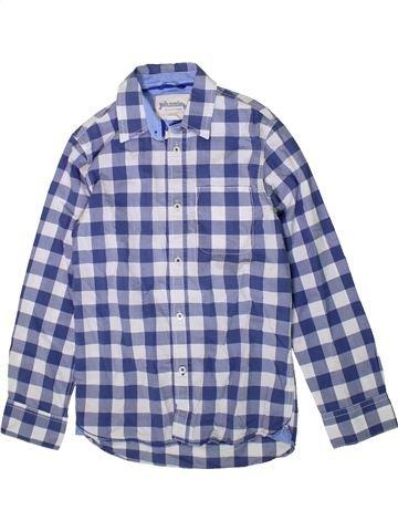 Chemise manches longues garçon JOHNNIE B bleu 10 ans hiver #1353547_1