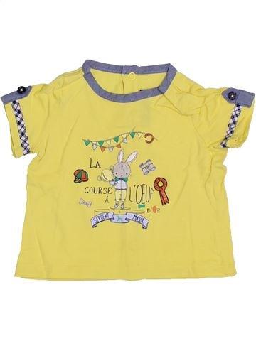 T-shirt manches courtes garçon SERGENT MAJOR jaune 3 mois été #1353823_1