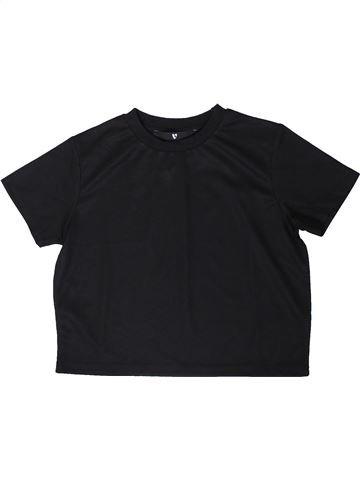 T-shirt manches courtes fille V BY VERY noir 9 ans été #1354040_1