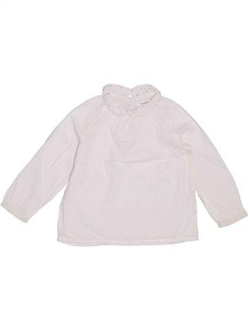 Blusa de manga larga niña MONOPRIX blanco 3 años invierno #1354532_1