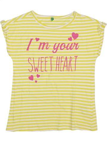 Camiseta de manga corta niña BENETTON beige 11 años verano #1355194_1