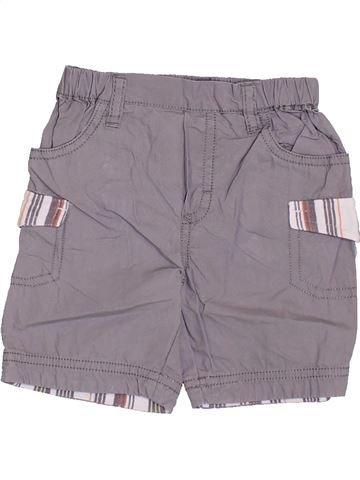 Short - Bermuda garçon P'TIT BISOU gris 6 mois été #1355946_1