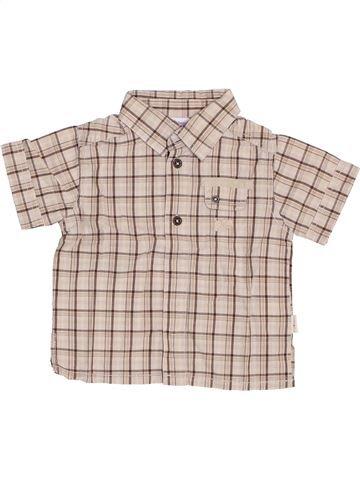 Chemise manches courtes garçon P'TIT BISOU gris 6 mois été #1355966_1
