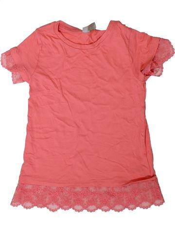 T-shirt manches courtes fille I LOVE GIRLSWEAR rose 7 ans été #1356662_1