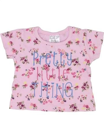 Camiseta de manga corta niña BABY rosa 3 meses verano #1356842_1