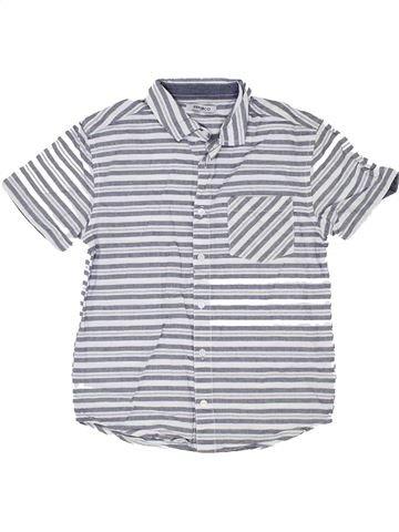 Chemise manches courtes garçon PEP&CO blanc 10 ans été #1357309_1