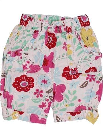 Pantalon fille CADET ROUSSELLE blanc 3 ans été #1357828_1