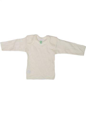 T-shirt manches longues fille PRENATAL blanc 3 mois hiver #1358682_1