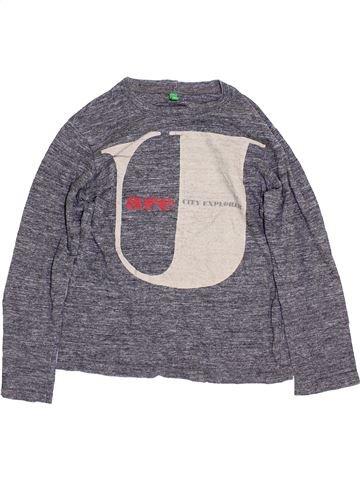 Camiseta de manga larga niño BENETTON violeta 8 años invierno #1359863_1